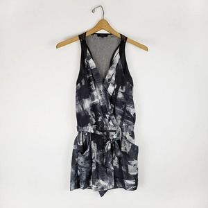 Guess racerback printed crossover romper XS